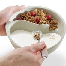i never knew that soggy cereal was such a serious problem. apparently it was which spurred the creation of this never-soggy-cereal bowl. Only $20.00