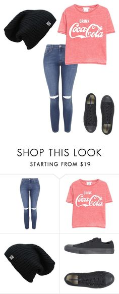 """Sem título #505"" by victoria-922 ❤ liked on Polyvore featuring Topshop, MANGO and Converse"