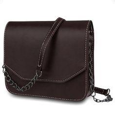 2016 Vintage Spring Summer Women Handbag Retro Solid PU Leather Chains Shoulder Bag Satchel Casual Messenger Small Bag Bolsas