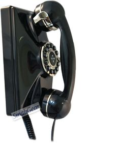 Phones the way they used to be - simple and sturdy. This stylish wall phone has the look, and feel of the 1930s (not that I would remember). With an oversized handset (10 Inches in length) and a five year warranty.