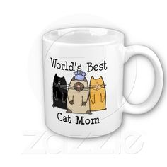 So Cute: World's Best Cat Mom Mugs $13.95 at http://www.zazzle.com/worlds_best_cat_mom_mugs-168142311824173619?rf=238418686999709759