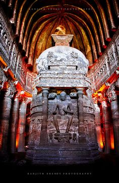 ajanta caves, aurangabad, india