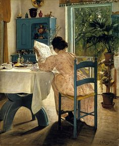 ✉ Biblio Beauties ✉ paintings of women reading letters & books.  #reading #books