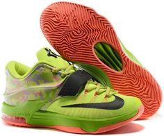 buy popular 96c64 8bb3d Nike KD 7 Easter Green Orange Sneakers Jordan Shoes Online, Nike Shoes  Online, Air