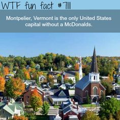 The only US capital without a McDonalds - WTF fun facts