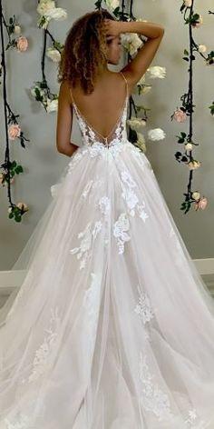 Cute Wedding Dress, Wedding Dress Trends, Dream Wedding Dresses, Designer Wedding Dresses, Backless Mermaid Wedding Dresses, Beaded Wedding Dresses, Backless Wedding Dresses, Wedding Dress Sparkle, Wedding Dress Princess