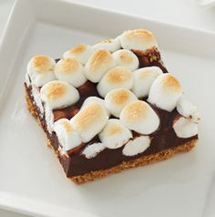 Sometimes the logistics of making s'mores gets in the way. No bother. S'mores Toffee Bars solves that problem.