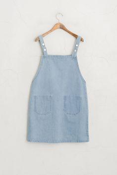Apron Dress, Denim, 100% Cotton