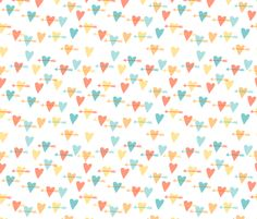 hearts and arrows fabric by katherinecodega on Spoonflower - custom fabric