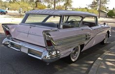 """1958 Buick Caballero Station Wagon  The Caballero is one of the rarest, and one of the most boss wagons ever produced. It was only made from '57-58, was all steel, and was dubbed a """"pillarless"""" hardtop. Under the hood, a 264cu.-in., 300hp engine was housed."""