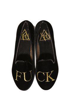 Y.R.U. Lowf Fuq Loafer in Black Gold | Y.R.U. Shoes | ShopAKIRA.com #Shoes #badass #fashion
