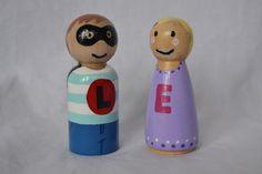 Personalised Letter Peg Dolls by LittlePeggys on Etsy https://www.etsy.com/au/listing/515957501/personalised-letter-peg-dolls