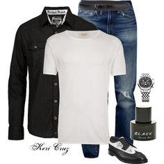 Sexy, rugged, and ready for a night on the town. by keri-cruz on Polyvore