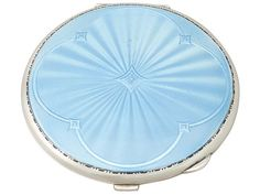 Sterling Silver and Enamel Compact - Vintage George VI SKU: A4342 Price GBP £795.00 http://www.acsilver.co.uk/shop/pc/Sterling-Silver-and-Enamel-Compact-Vintage-George-VI-42p8101.htm