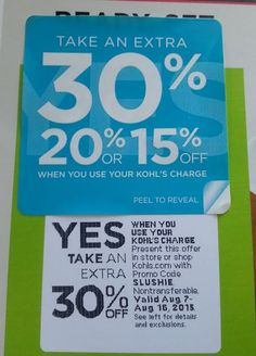 Example Savings at Kohl's