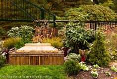 Longwood Gardens Miniature Train Garden - 8 - Fleeting Architecture: photos of small buildings, trains, bridges, and landscaping at Longwood Gardens, Pennsylvania