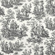 Waverly Country Life Toile Fabric