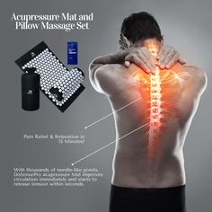 The DoSensePro Acupressure Mat offers you an incredibly easy method to reduce stress in your body and massage your aching back and tense neck muscles!