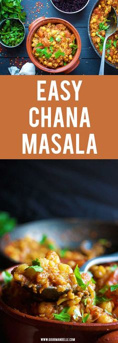 Here's a quick and easy chana masala recipe that's bursting with amazing flavors! Serve it with a side of rice and enjoy the wonderful taste of Indian spices. #chickpeas #indian #veganrecipes