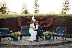 bride and groom at Ballymagarvey Village