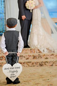 Cute Happily Ever After sign. #weddingsigns #ringbearer