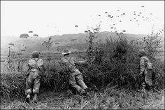 French paratroopers arrive in Diem Bien Phu in 1953. Hoping to counter the elusive guerrilla tactics of the Viet Minh, the French army executed a major operation aimed at creating a series of fortresses that would force the Viet Minh to fight an open, regular battle. In 1954, Vietnamese general Giap launched an offensive against Diem Bien Phu, using improvised but effective supply routes. The base was put under siege, sealing the fate of France in the Indochina war. Vietnam was to come soon.
