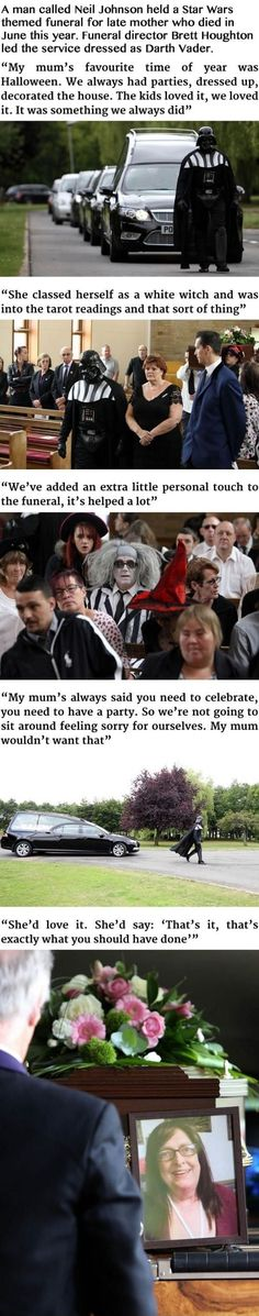 Darth Vader Leads Funeral For His Grandmother#funny #lol #lolzonline