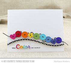 Handmade card from Barbara Anders featuring Blueprints Die-namics #mftstamps