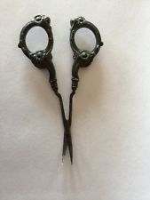 Antique ? Sterling Silver Embroidery Scissors Ornate