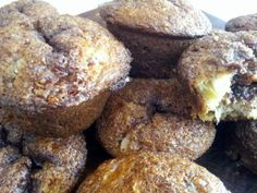 """Rhubarb Muffins! """"Delicious! Crunchy top and moist inside. Will add a little more rhubarb next time but these were very much enjoyed.""""  @allthecooks #recipe #muffins #rhubarb #easy"""