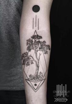 tree tattoo geometric
