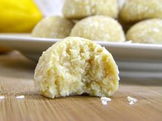 Lemon Coconut Meltaway Cookies ✦  raw ✦  paleo ✦  etc (skip the agave though...too high in fructose to be a good choices ✦  use honey, glucose syrup, rice syrup, maple syrup in that order ✦  wonder if xylitol syrup would work?