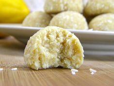 Coconut Lemon Meltaways... great raw food treat! Making them tomorrow!!!