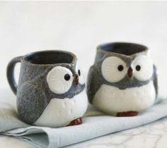 Who doesnt need owl mugs?! fullofambiguity