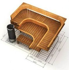 Fish Tank (FT) warm water, gravity flow to Grow Beds (GB) Sauna House, Sauna Room, Building A Sauna, Building Ideas, Sauna Design, Spa Interior, Spa Rooms, Steam Room, Arquitetura