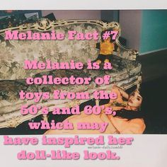 Another Melanie fact! My edit. Please don't remove credit 💗 Melanie Martinez Facts, Melanie Martinez Outfits, Melanie Martinez Drawings, Cry Baby, Famous Memes, Pity Party, Best Sister, Emo Girls, She Song
