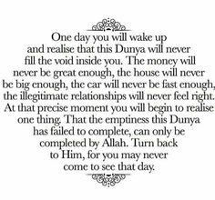 So important...Alhamdulilaah I realize this but it's easy to forget