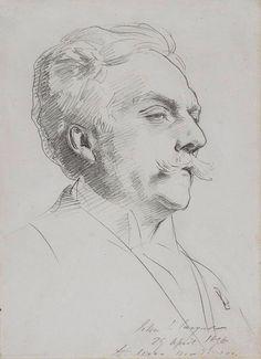 The Secrets Of Drawing Realistic Pencil Portraits - Pencil Portrait Mastery - John Singer Sargent Sketches Portrait Au Crayon, L'art Du Portrait, Portrait Sketches, Pencil Portrait, Life Drawing, Drawing Sketches, Pencil Drawings, Painting & Drawing, Sketching