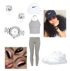 """Untitled #66"" by jadechanteon on Polyvore featuring Ally Fashion, TNA, Geneva, Glitzy Rocks and NIKE"