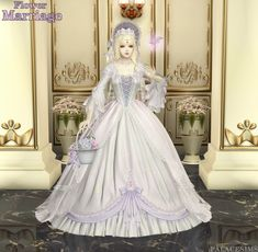 [PALACESIMS]Flower Marriage Sims 4 Mods Clothes, Sims Mods, Sims 4 Dresses, Ball Dresses, Sims 4 Cas, Sims Cc, Marriage Suits, Rococo Dress, Sims 4 Anime