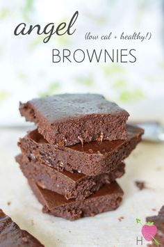 I need these in my face. Recipe: Healthy Low Calorie Angel Brownies - Wholeheartedly Healthy