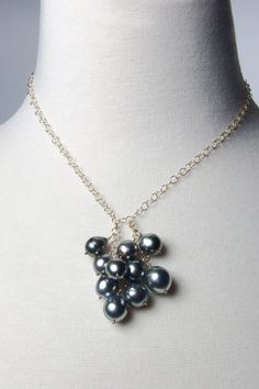 Tahitian Pearl Necklace / South Sea Pearl by AlisonStorryJewelry, $580.00