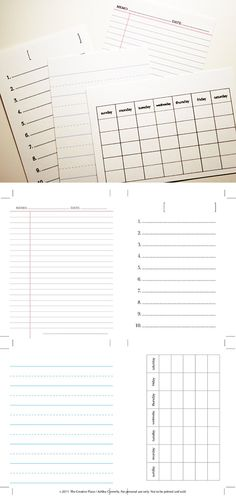 Free Printable: Set Includes List, an Any-Month Calendar Card, Lined Writing Paper, and a Memo Sheet Filofax, Project Life Cards, Project Life Freebies, Printable Planner, Free Printables, Images Vintage, Planner Organization, Smash Book, Journal Cards