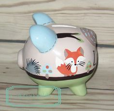 Forest Friends artisan hand painted ceramic by Alphadorable