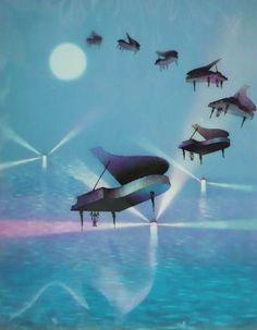 藤城清治「光のプレリュード」(1984)