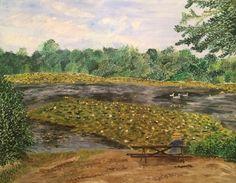 Acrylic landscape AP Art Summer Work