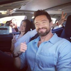 Hugh Jackman filmed a car commercial for the Toyota Levin with Taiwanese actress Shu Qi