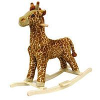 Happy Trails Plush Rocking Animal - Giraffe