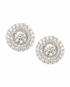 -4R56 Forevermark Maria Canale for Forevermark Petite Deco Treasures Luna Stud Earrings