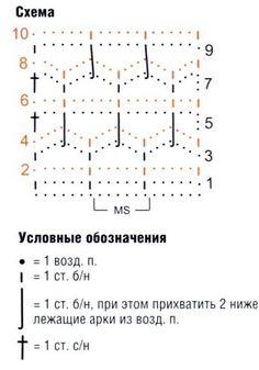 схема вязания узора крючком 15